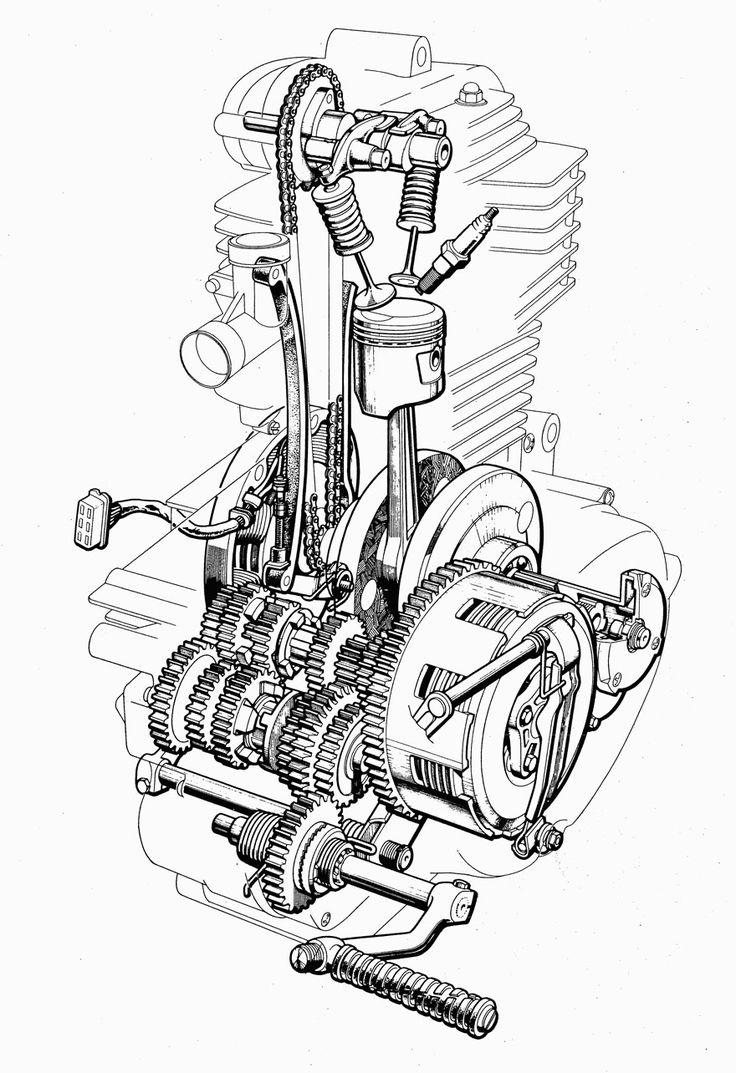 hero honda glamour engine diagram