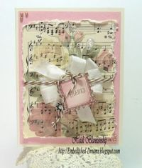 shabby chic card.. Just needs distressing on the edges ...