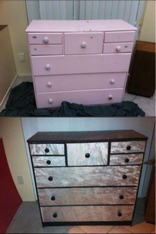 Cute Wallpapers For Girl Rooms Refurbish Dresser Wallpaper Metallic Paint My Diy