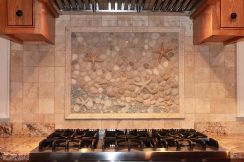Range Cd Mural An Eclectic Custom Kitchen Backsplash Mural Done By Wet