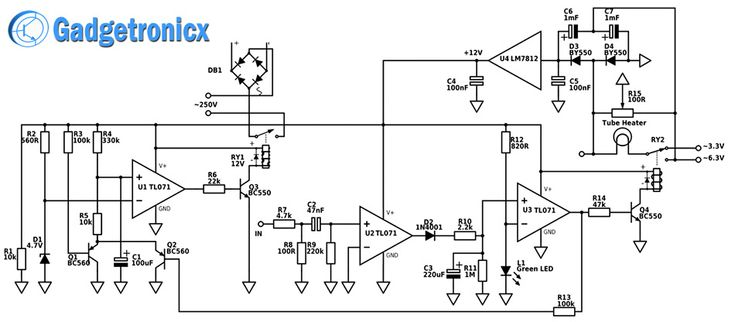 analog to digital amplifier electronic projects circuits