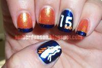 Denver Broncos   Nail Art   Pinterest   Football season ...