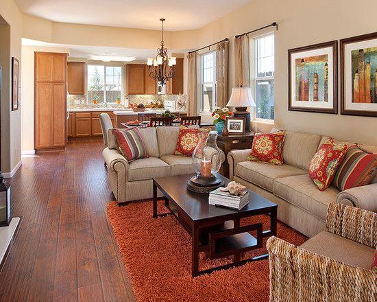 Living Room Burnt Orange Couch Design, Pictures, Remodel