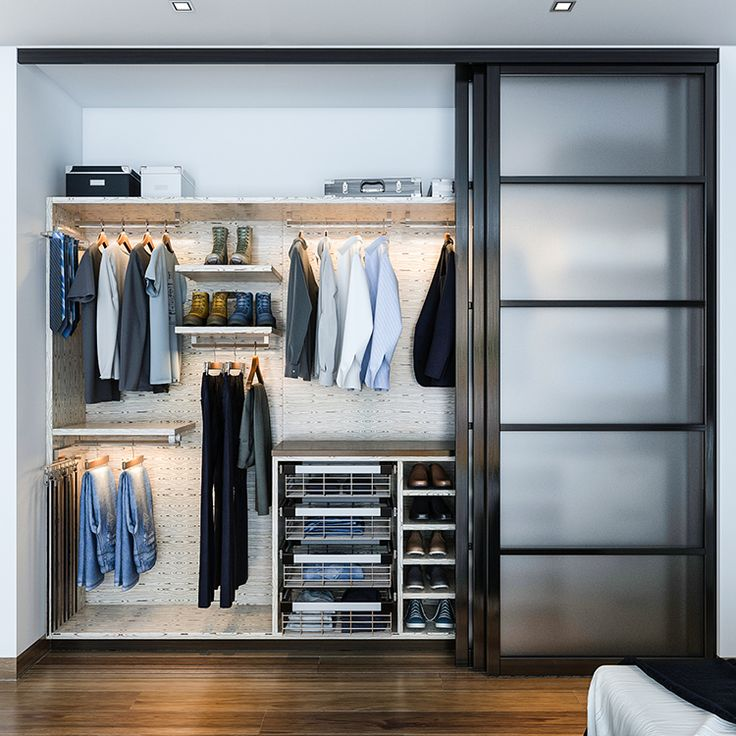 No Closet Space Solutions Salty Lime Veneer Gives An Artistic Yet Sophisticated