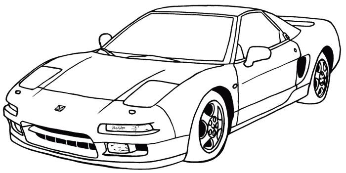 acura nsx drawing