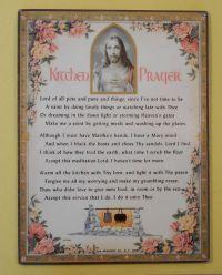 Vintage 1955 Kitchen Prayer Religious Wall Art Plaque ...