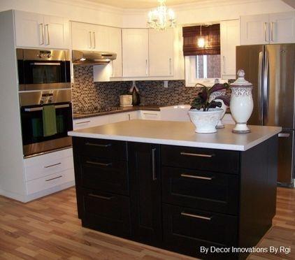 17 Best Images About White Cabinets Dark Island Kitchen