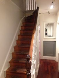 Removing carpet from the stairs...