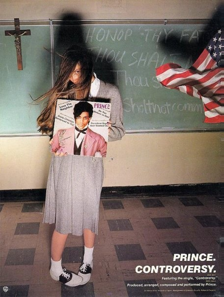 Beautiful Animated Girl Wallpaper Ad For The Album Controversy 1981 Prince Pinterest