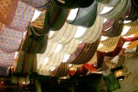 fabric draped ceiling-- a creative way to cover your ...