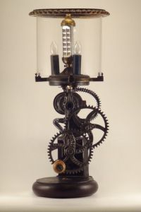 Dual Power Lamp Made Out Of 1900's Grinder  Recycled ...