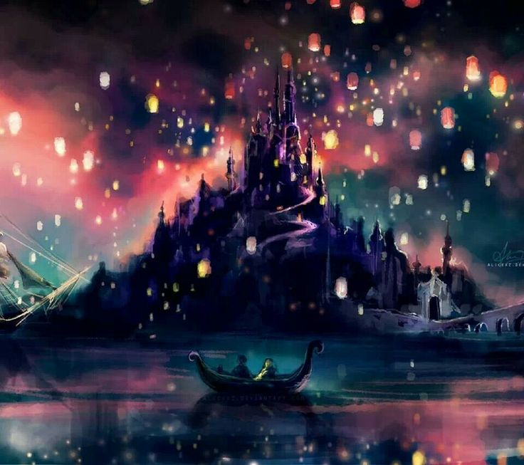 Inspiring Quotes Iphone Wallpaper Tangled Rapunzel S Castle And Paper Lanterns Disney
