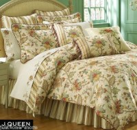J. QUEEN VERONA 4pc KING COMFORTER SET JACOBEAN FLORAL ...