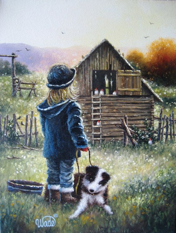 Cute Fall Wallpapers Pinterest Farm Girl Print From Oil Painting Country Girl Little