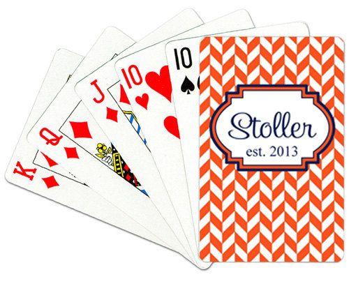 monogrammed bridge cards