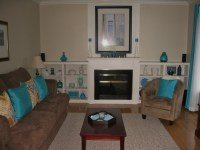 Living room in teal and chocolate brown   Lovely living ...