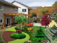 Beautiful-landscaping-small-backyard-sloping-garden-design ...