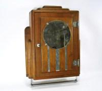 Antique Art Deco Medicine Cabinet Mahogany Chrome Mirror ...