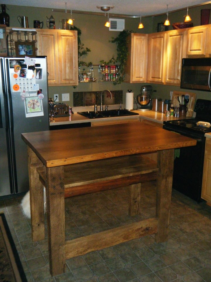 Old Barn Wood Kitchen Island 17 Best Images About Barn Wood Kitchen Islands We Have