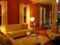 burnt orange living room | = High end Miami flavor, Walls ...