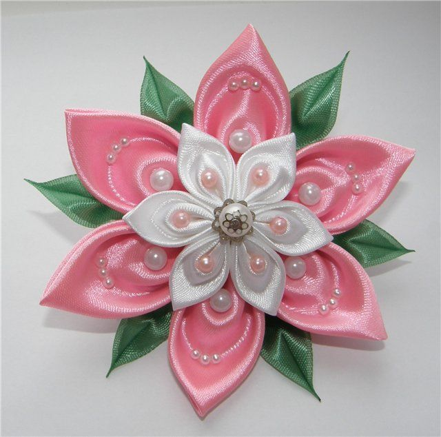 1000 ideas about kanzashi flowers on pinterest fabric