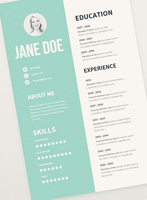 create a cv very original pinterest