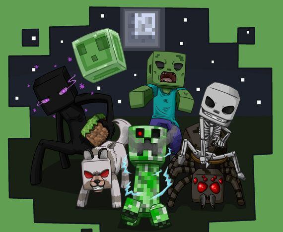 New MINECRAFT MOBS Black And Green
