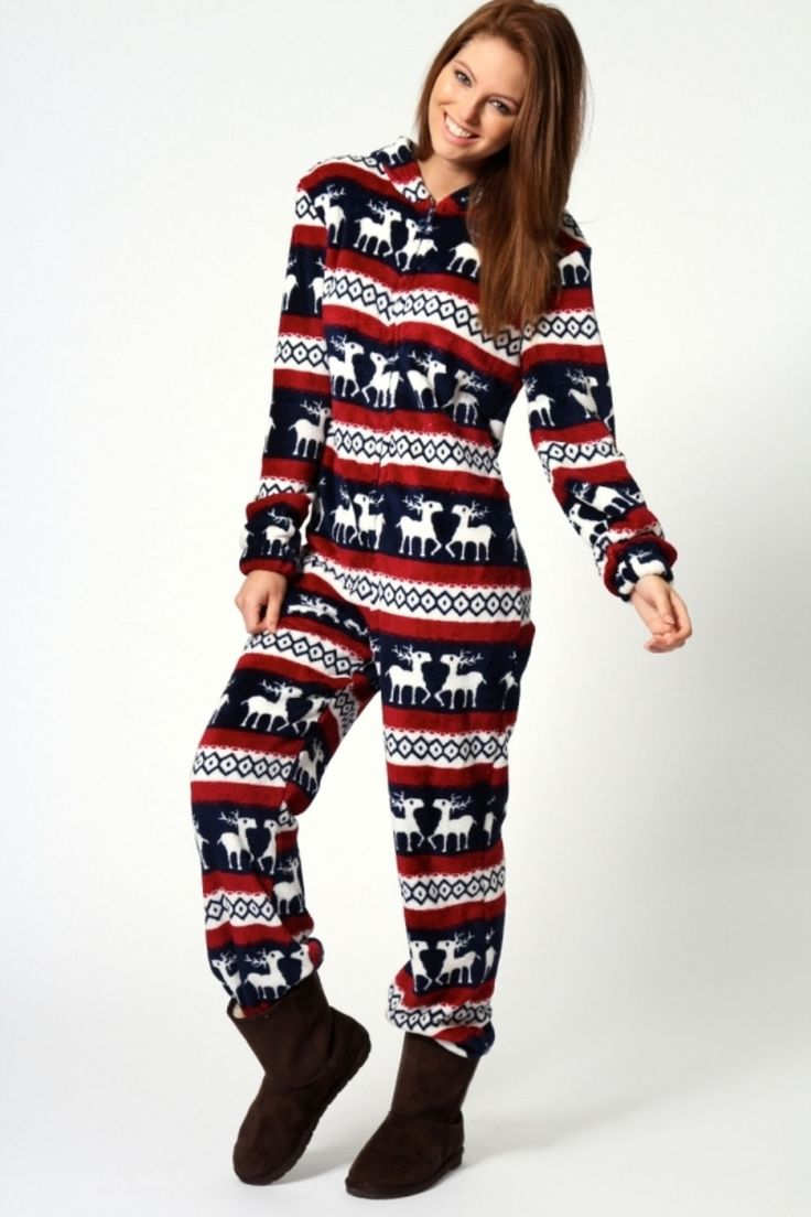 scarlett reindeer onesie 29 chic fall outfits for teens christmas