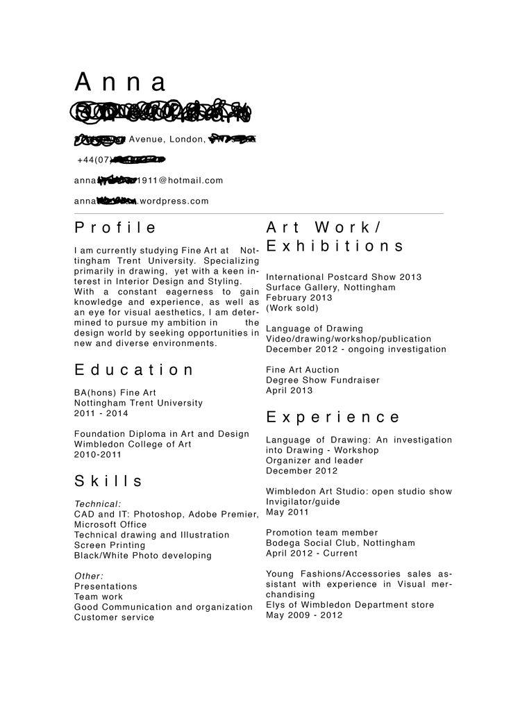 fine artist resume examples