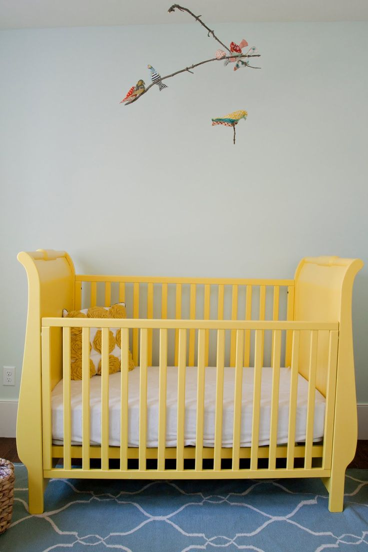 Paint the crib with non toxic voc free paint before baby number 2