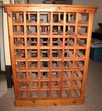 Wine Rack Furniture | Lovely Vintage Oregon Pine Wine Rack ...