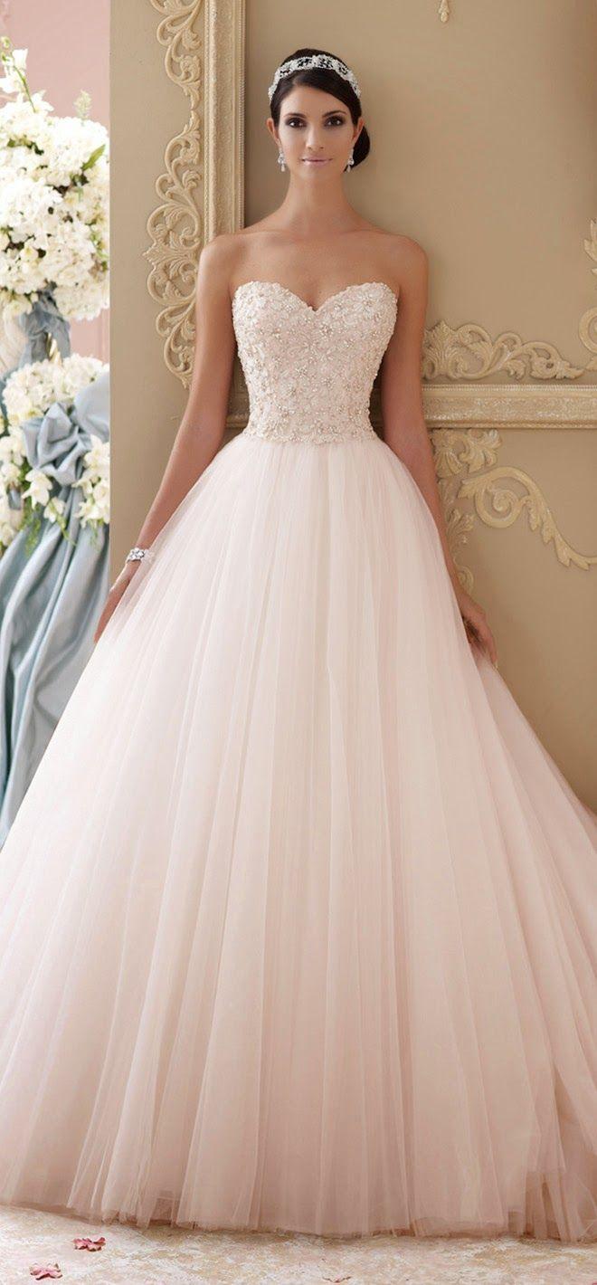 pink wedding dresses wedding dresses websites David Tutera for Mon Cheri Spring Bridal Collection
