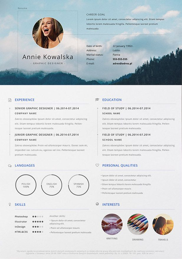cv photo template gratuit