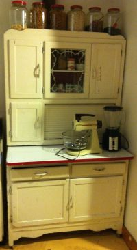 My Hoosier cabinet, it originally belonged to my Great ...