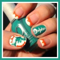 17 Best ideas about Miami Dolphins Nails on Pinterest ...