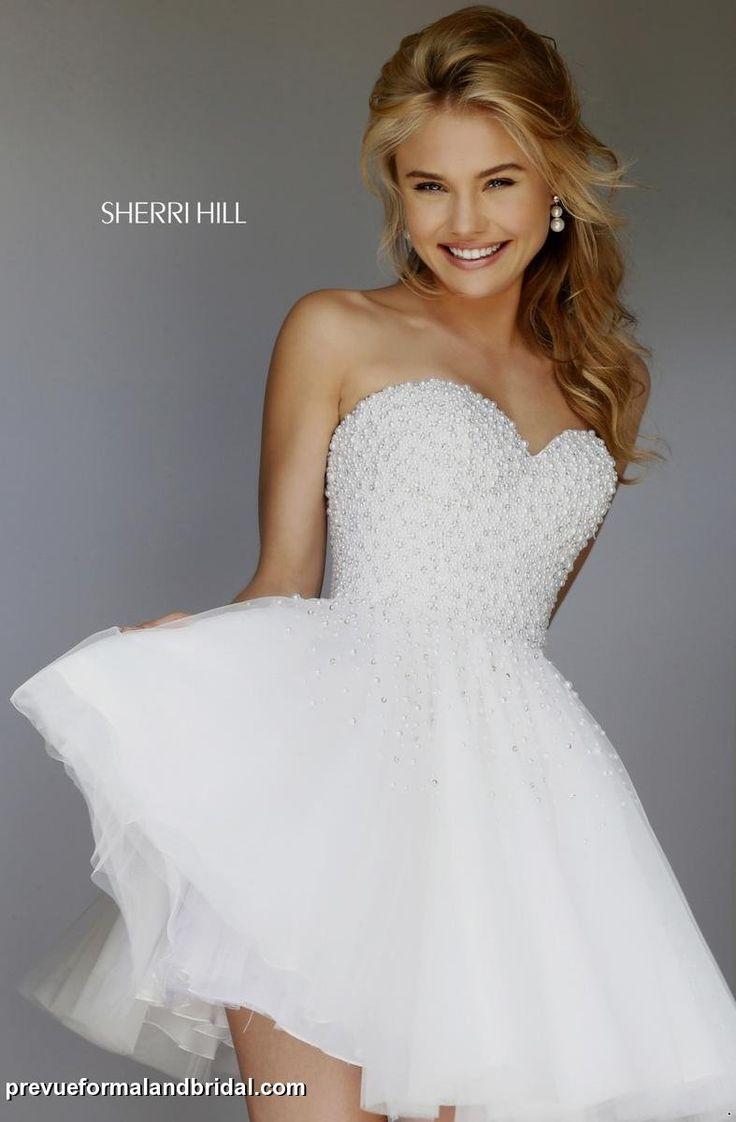 wedding reception dress reception wedding dress Short full skirt SherriHill dress with beaded bodice Wedding reception dress Second