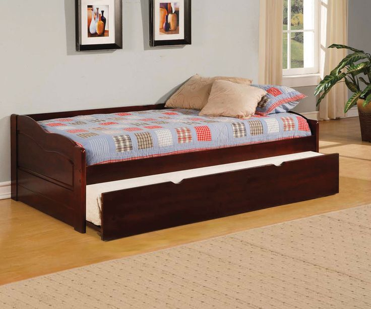 Twin Bed Slats Daybed With Twin Trundle Sunset Collection Cm1737