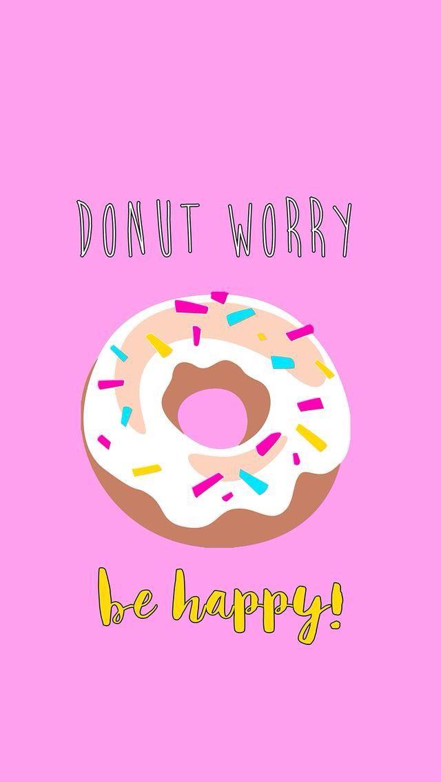 Cute Cartoon Sushi Wallpaper Donut Worry Be Happy Fondos Pinterest Wallpaper