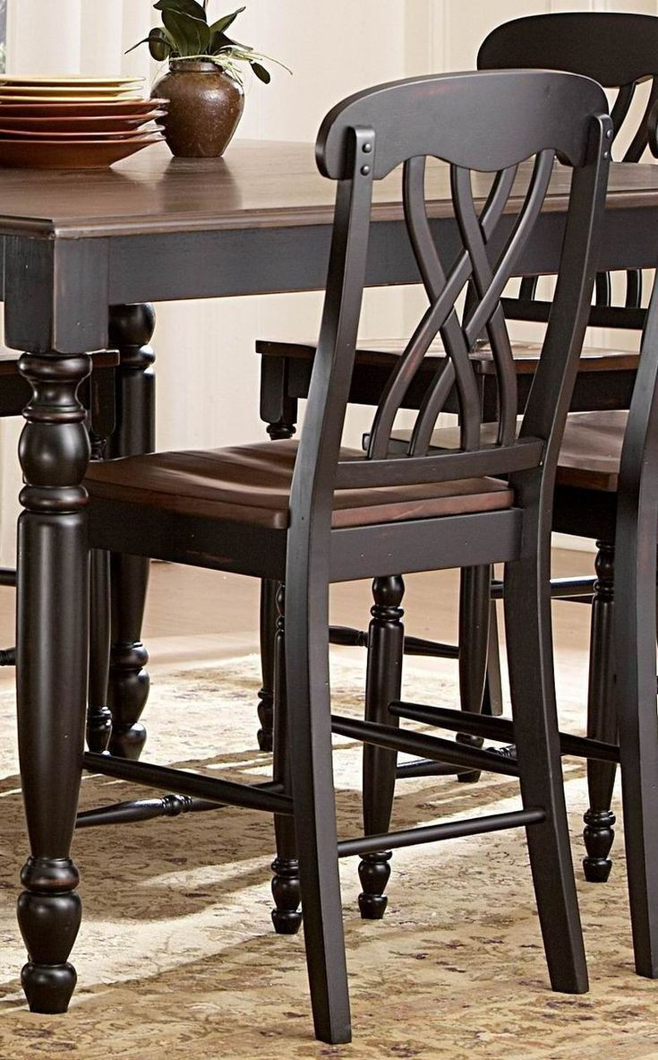 counter height dining table kitchen table omaha Ohana 5Pcs Counter Height Dining Set BK