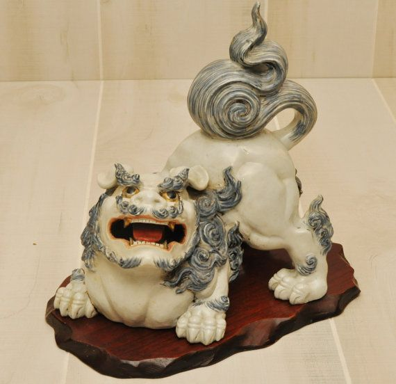 Pendant Lighting For Traditional Kitchen Antique - Foo Dog / Shishi Dog - Meiji Period Japan