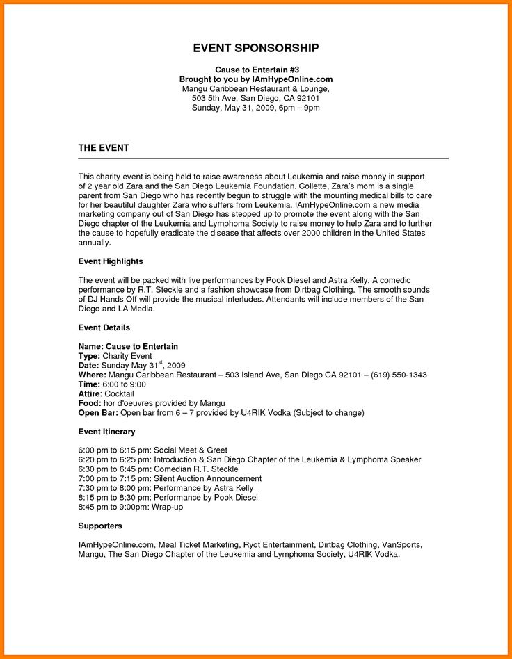 Charity proposal template gildthelilyco – Event Proposal Template