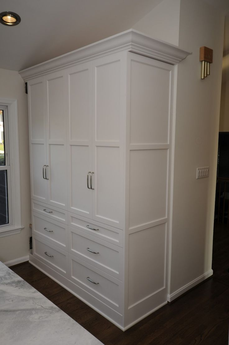 Pantry Cabinet: Recessed Pantry Cabinet with Recessed