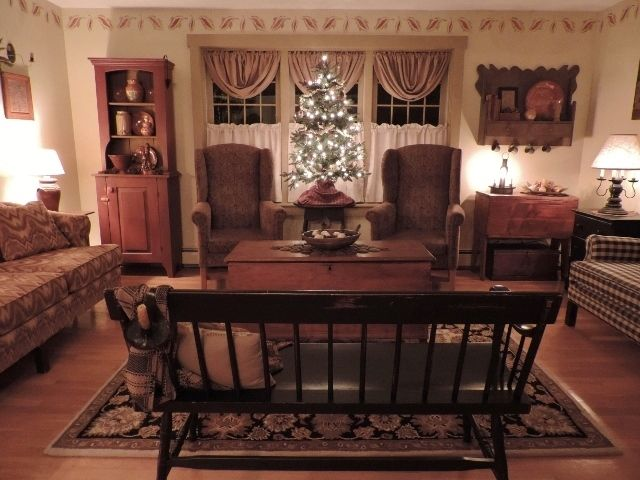530 best Primitive Living Rooms images on Pinterest