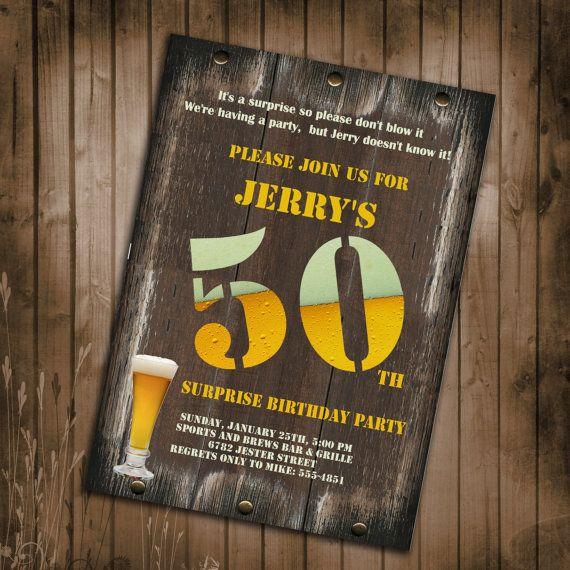 50th birthday card invitations