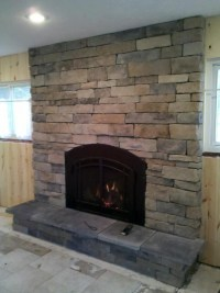 Stone front fireplace | Fireplace Fronts | Pinterest