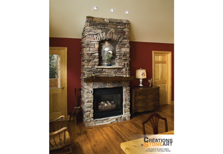 Cultured Stone Chardonnay Southern Ledgestone Fireplace