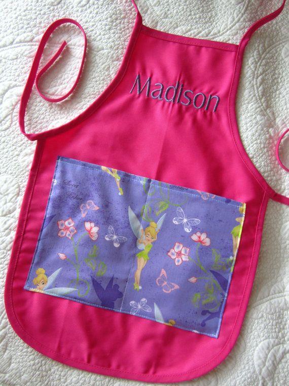 monogrammed childrens aprons