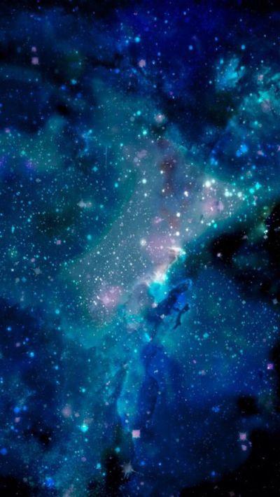 Blue galaxy wallpaper for iPhone 5 | phone stuff | Pinterest | Wallpapers, Blue glitter ...