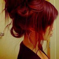 Red hair color, cute bun   h a i r .   Pinterest   Lauren ...