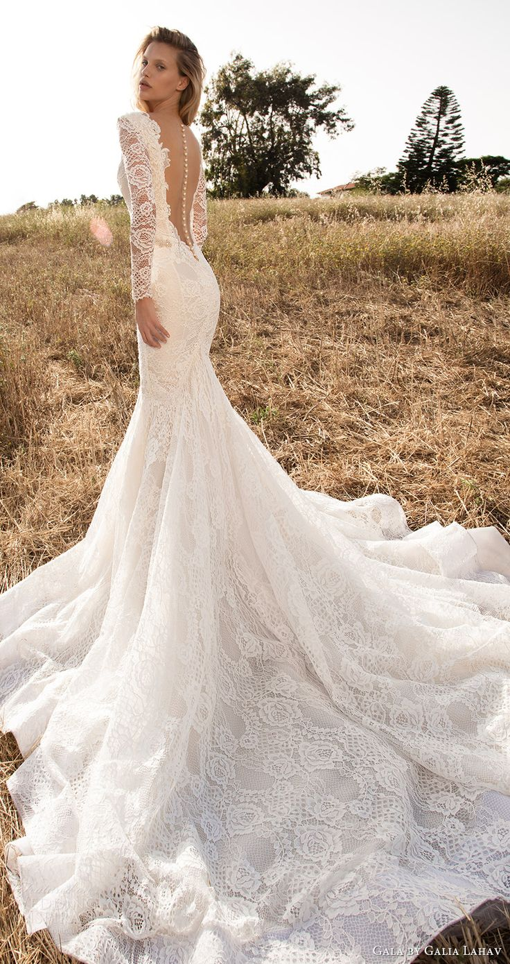 lace back wedding dress mermaid wedding gowns Gala by Galia Lahav Spring Wedding Dresses GALA No II Bridal Collection